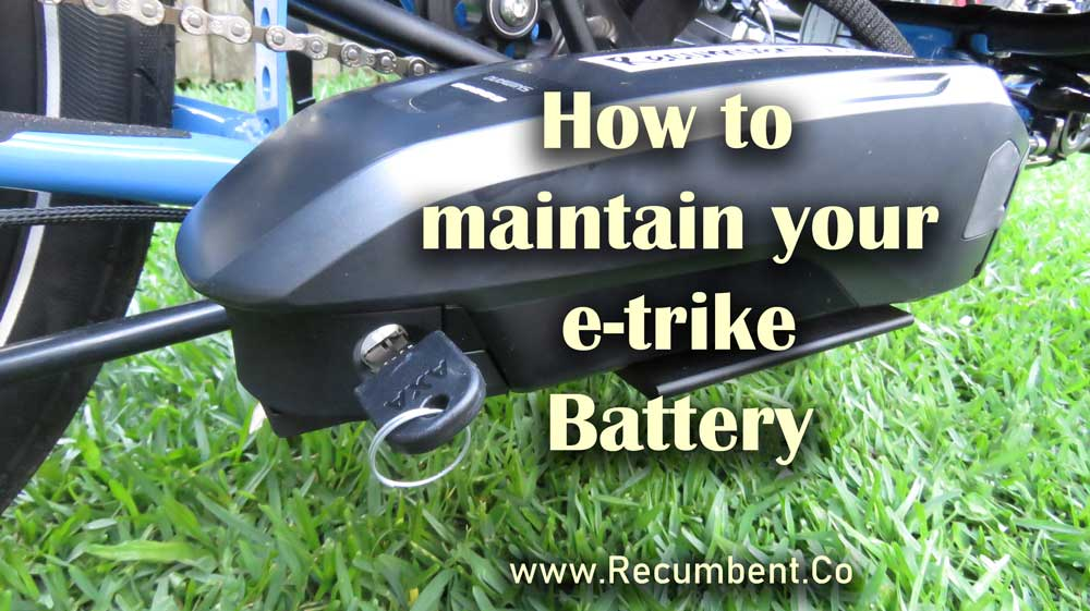 How to maintain your e-trike battery