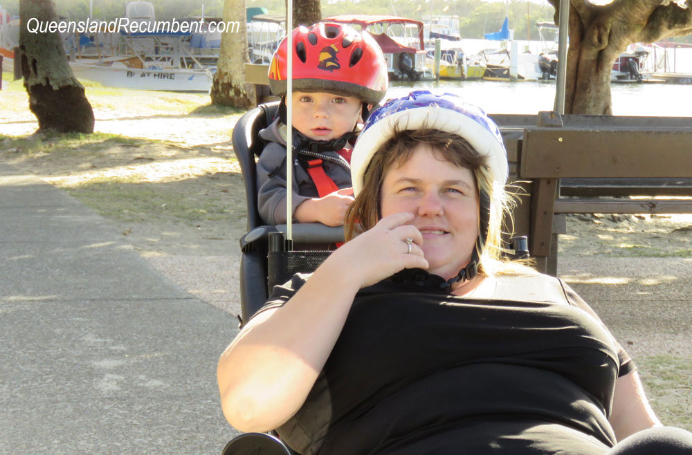 Add a baby seat to your recumbent trike