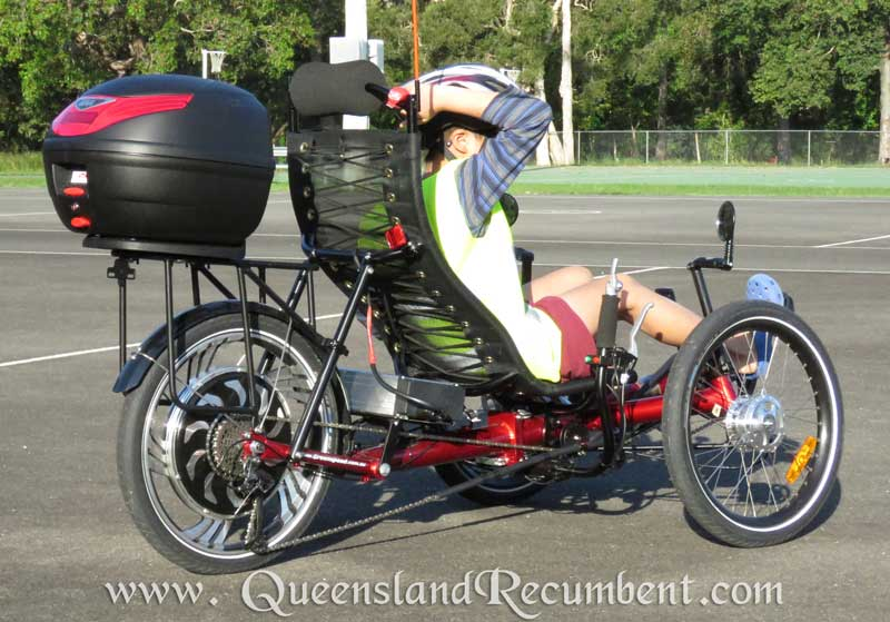 Recumbent trikes provide support