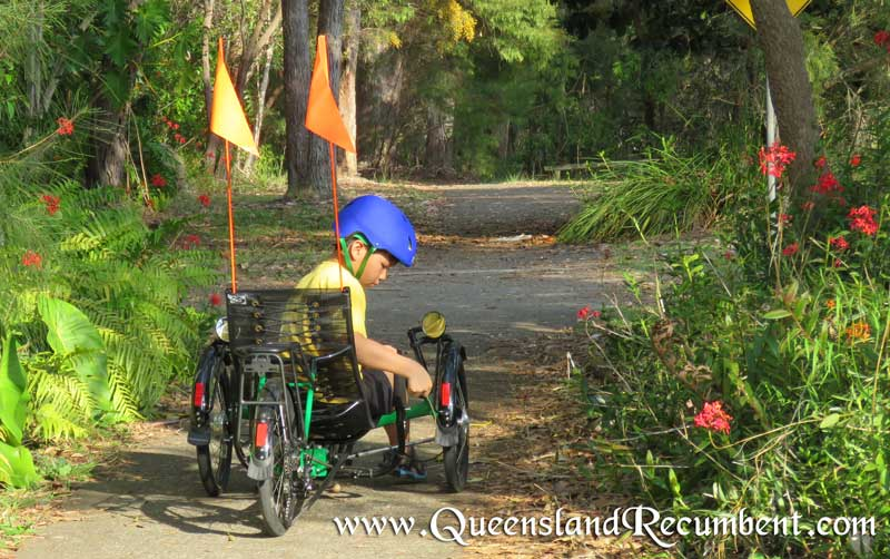 Recumbent trikes provide low-speed stability