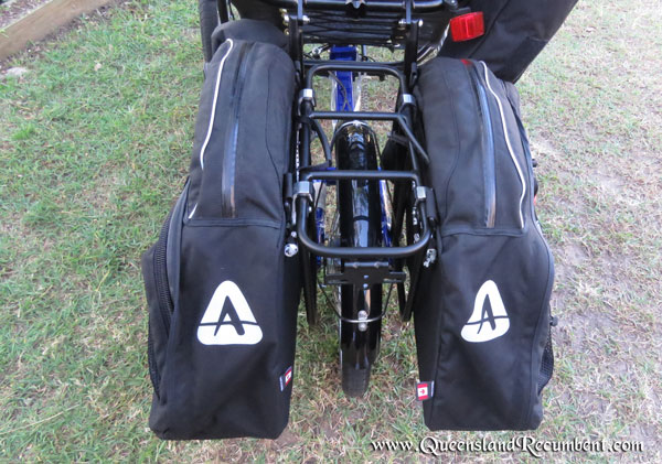 Arkel Panniers clip onto the luggage rack