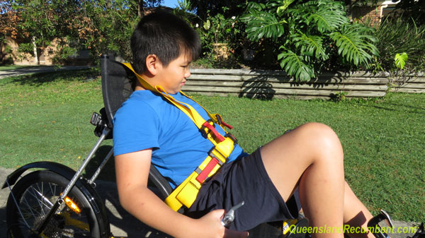 Seat belt for recumbent trikes