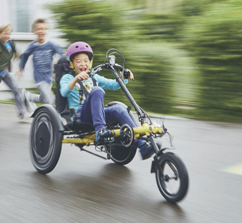 Become more active in your community by using a recumbent trike.